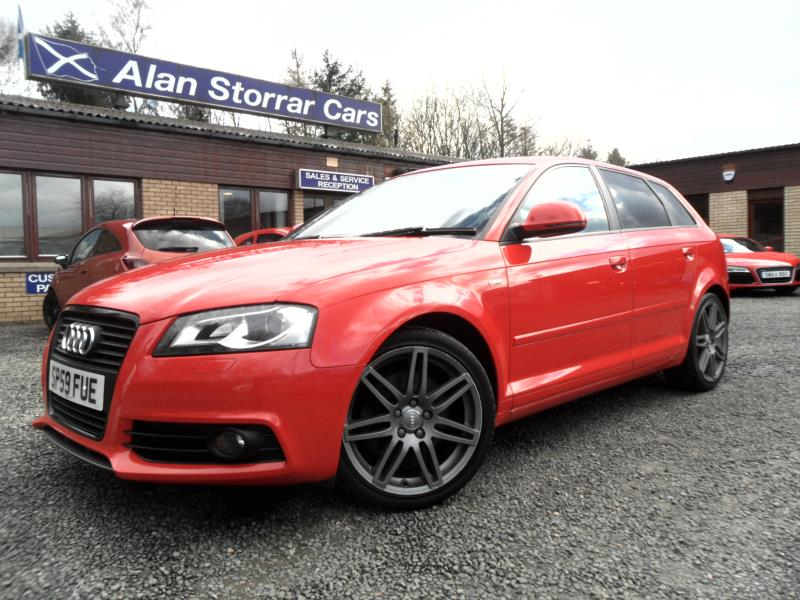 used audi a3 sportback tdi quattro s line special ed 2009 alan storrar cars retail. Black Bedroom Furniture Sets. Home Design Ideas