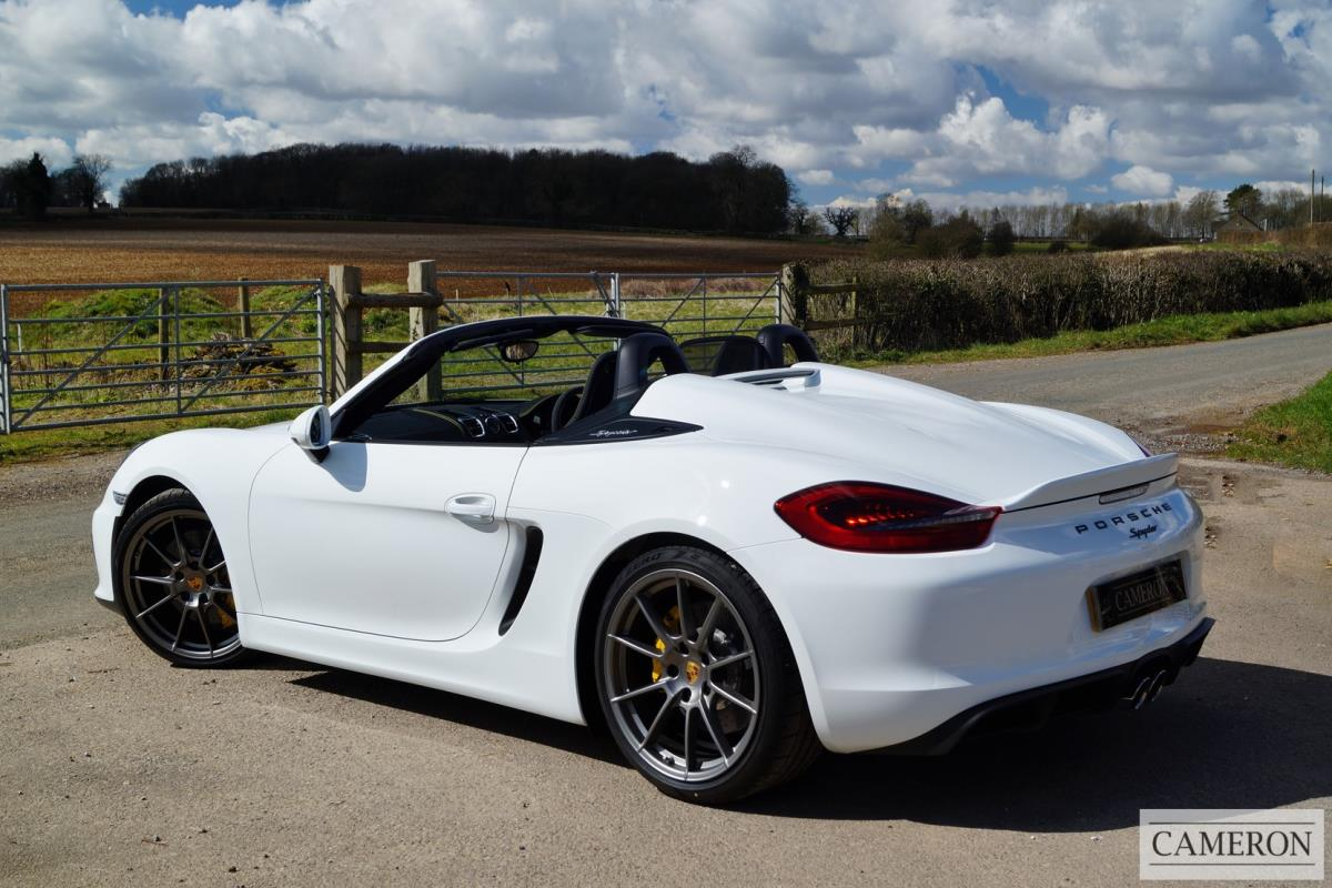 used porsche boxster 981 spyder 2016 cameron sports cars. Black Bedroom Furniture Sets. Home Design Ideas