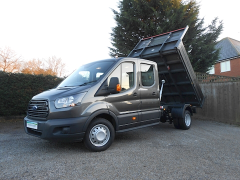 Ford Transit 350 L3 Crew Cab Bison Tipper Magnetic Grey CAB AIR CON RARE 2.0 Euro 6 170ps
