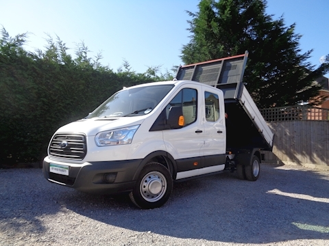 Ford Transit 350 L3 Lwb Double / Crew Cab Bison Tipper 2.0 170ps Euro 6 EcoBlue engine Six speed