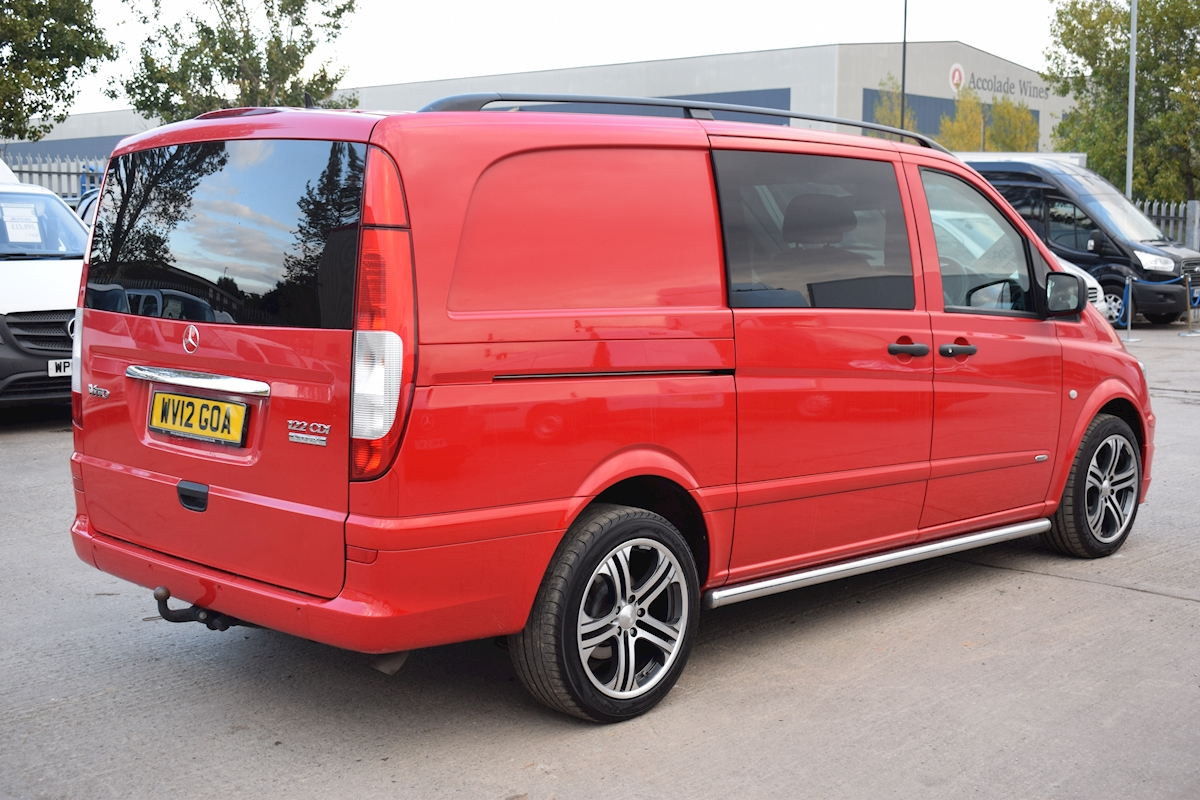 used mercedes vito 122 dualiner lwb brabus sport x crew van 2012 van sales uk bristol. Black Bedroom Furniture Sets. Home Design Ideas