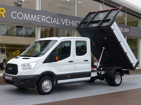 Ford Transit Tdci 125ps 350 L3 Lwb Crew Cab Tipper *UK VEHICLE 3 YEAR WARRANTY