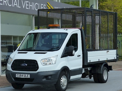 Ford Transit Tdci 125ps 350 Mwb Tipper With Rear Cage